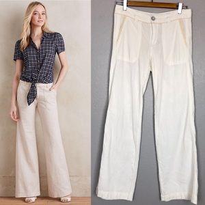 Pilcro and the Letterpress Wide Leg Linen Pants